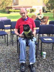 man with pug