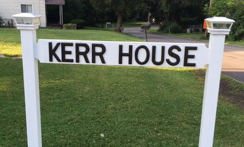 Sign that says Kerr House