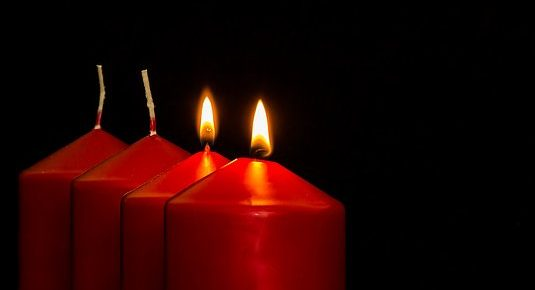 two lit candles out of four by Myriams-Fotos, Pixabay
