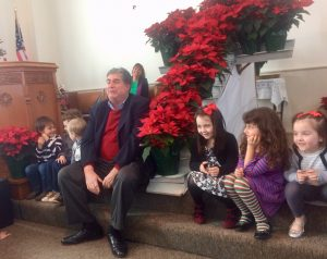 Kids from Kerr Presbyterian Chrurch at Christmas Time