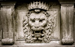 Relief of Lion with a crown from Pixabay Images