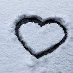 Heart drawn in the snow from pixabay