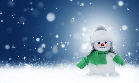 toy snowman in the snow from pixabay