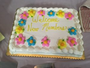 cake to welcome new members