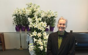 Lynn with the Easter flower