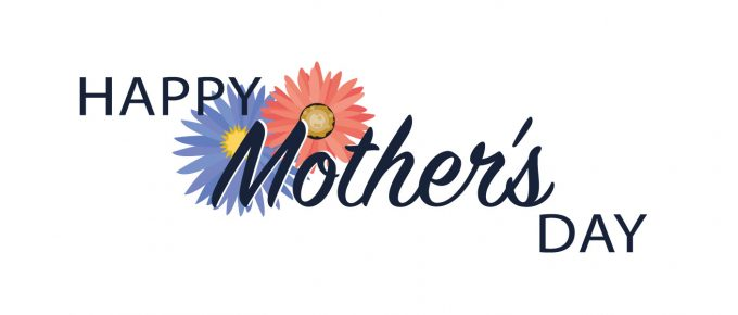 Happy mother's day graphic with flowers