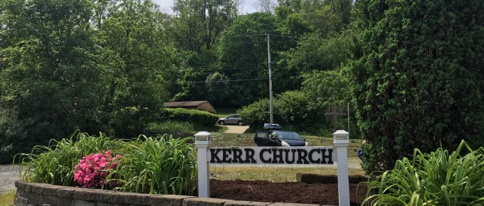 Image of the Kerr Church Sign