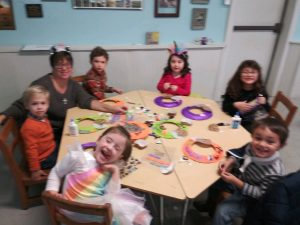 kids table at fall festival 2019