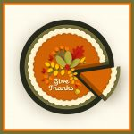 Pie with words give thanks from pixabay