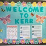 Image of Kerr's bulletin board with COVID info