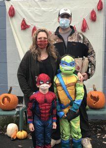 family in costume