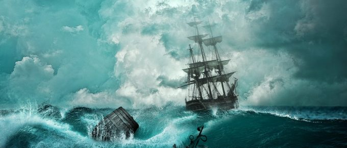 painting of a shipwreck, by Comfreak, pixabay