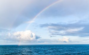 rainbow over water by michelle maria, pixabay