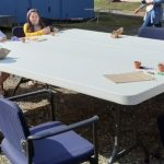 Kids outside for craft