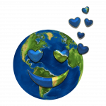 Earth Image with Hearts, Pixabay