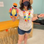 Volunteer with Parrot Puppet